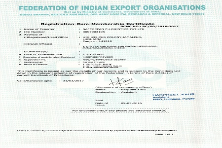 Member Federation of Indian Export Organisation - FIEO